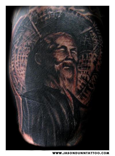 Jason-dunn-animal-chin-tattoo