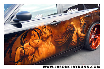 Artist Jason Dunn attends Coast Airbrush 8th Annual Kustom Kulture Art ...