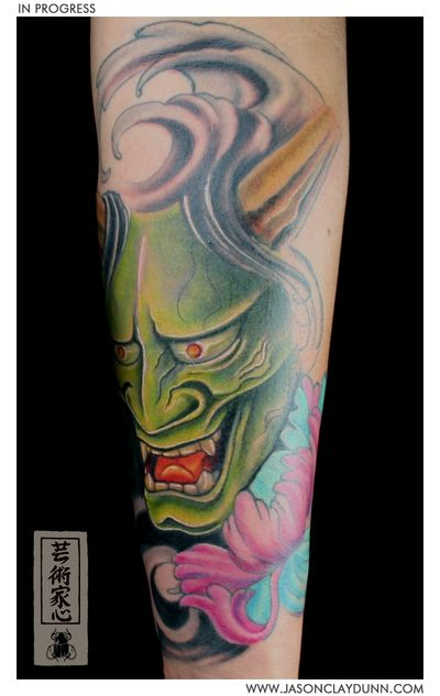 Hannya-mask-japanese-oni-flower-jason-dunn-001